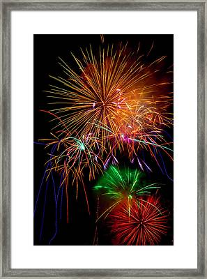 Burst Of Bright Colors Framed Print