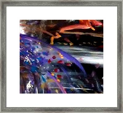 Framed Print featuring the painting Burst Of Color by Michelle Audas