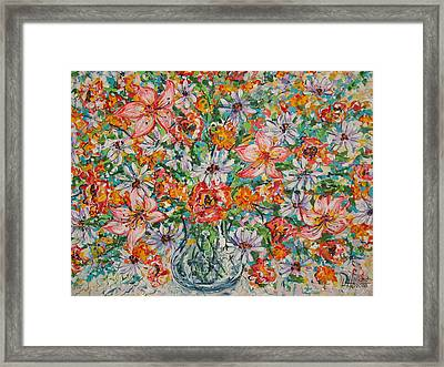 Burst Of Flowers Framed Print