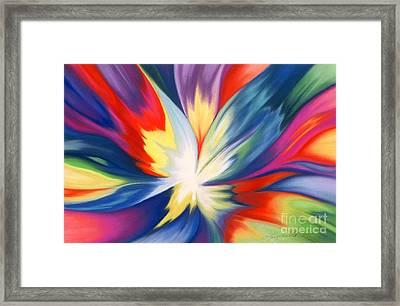 Burst Of Joy Framed Print by Lucy Arnold