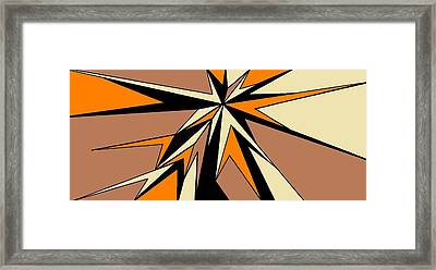 Burst Of Orange 2 Framed Print by Linda Velasquez