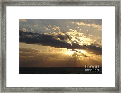 Burst Framed Print by Priscilla Richardson