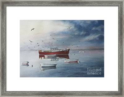 Bursting Calm Framed Print