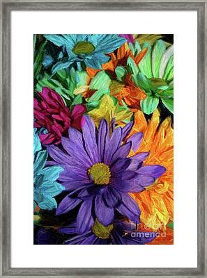Bursting Colors Framed Print by John W Smith III