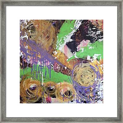 Bursting Cyclone Framed Print by Mahlia Amatina
