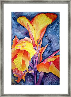Bursting Forth Framed Print by Margaret Elizabeth Johnston ND