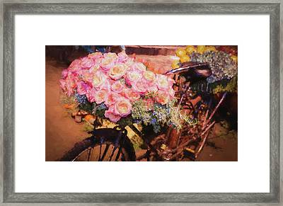 Bursting With Flowers Framed Print