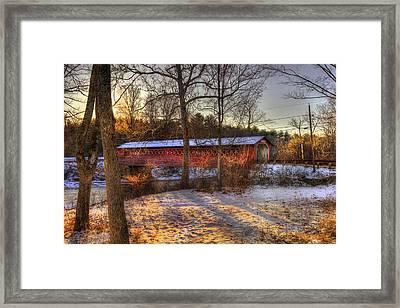Burt Henry Covered Bridge - Bennington Vermont Framed Print by Joann Vitali