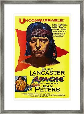 Burt Lancaster As The Apache 1954 Framed Print by Mountain Dreams
