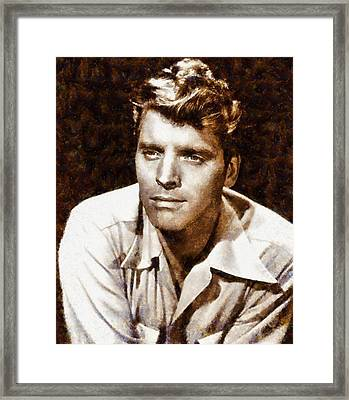 Burt Lancaster Hollywood Actor Framed Print by Esoterica Art Agency