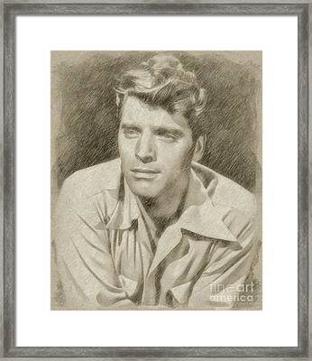 Burt Lancaster Hollywood Actor Framed Print by Frank Falcon