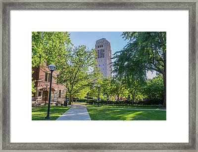Burton Memorial Tower 1 University Of Michigan  Framed Print
