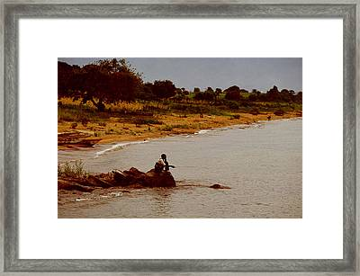 Burundi In Search Of A Meal  Framed Print