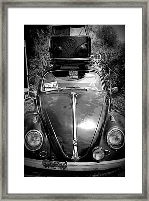 Bus On Bug Framed Print by Laurie Perry