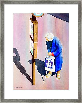 Bus Stop Framed Print by Don Harvie