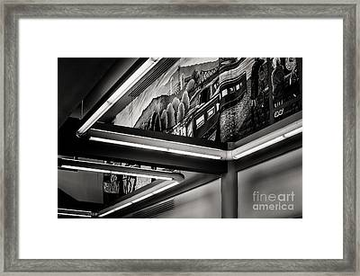 Bus Stop Framed Print by Arne Hansen