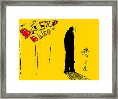 Bus Stop Blues Framed Print