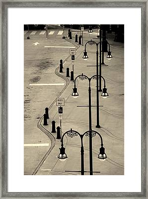 Bus Stop In Nashville Tn Framed Print