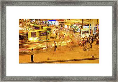 Bus Stop Framed Print by Michael Weber