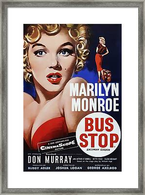 Bus Stop Movie Lobby Ad  1956 Framed Print