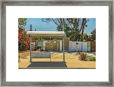 Bus Stop  Framed Print by Peter Tellone