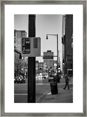 Bus Stop Framed Print