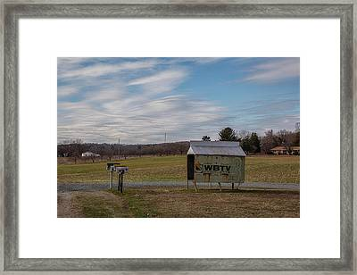 Bus Stop Shelter Framed Print by Cindi Poole