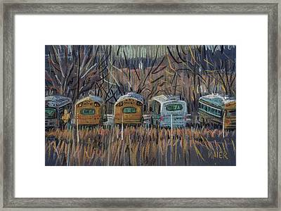 Bus Storage Framed Print