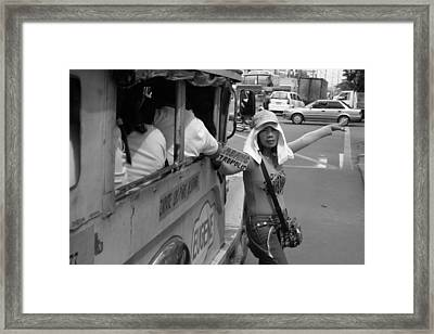 Bus To South Mall Framed Print by Jez C Self