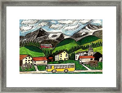 Bus Travel Framed Print by Monica Engeler