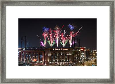 Busch Stadium Framed Print by Andrea Silies