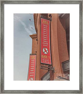 Busch Stadium - Cardinals Baseball Framed Print