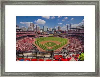 Busch Stadium St Louis Cardinals Ball Park Village #3 Framed Print by David Haskett