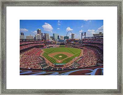 Busch Stadium St. Louis Cardinals Ball Park Village #3b Framed Print by David Haskett