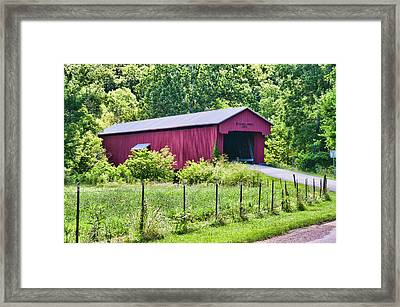 Busching Covered Bridge 1885 Framed Print