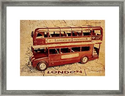 Buses Of Vintage England Framed Print