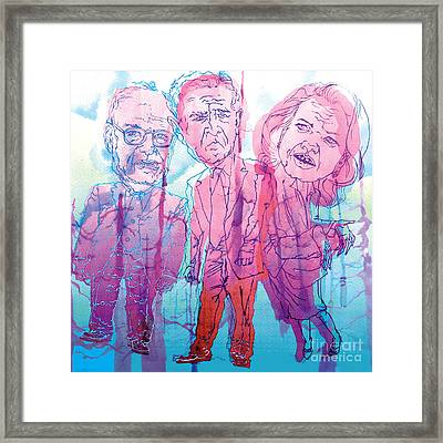 Bush Administration 2008 Framed Print by Danielle Criswell
