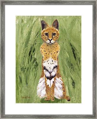 Framed Print featuring the painting Bush Cat by Jamie Frier