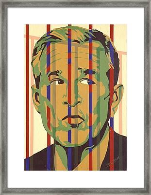 Bush Framed Print by Dennis McCann