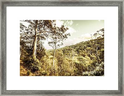 Bush Views And Lookouts Framed Print by Jorgo Photography - Wall Art Gallery