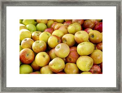 Bushel Of Apples Framed Print