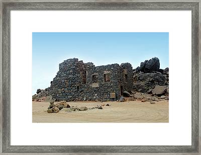 Bushiribana Gold Mill Ruins Of Aruba Framed Print by Design Turnpike