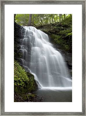 Bushkill Falls - Daughter Fall Framed Print