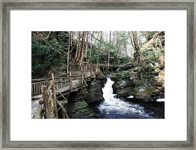 Bushkill Falls Boardwalk 2 Framed Print