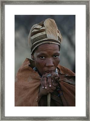 Bushmen Woman Framed Print by Miranda  Miranda
