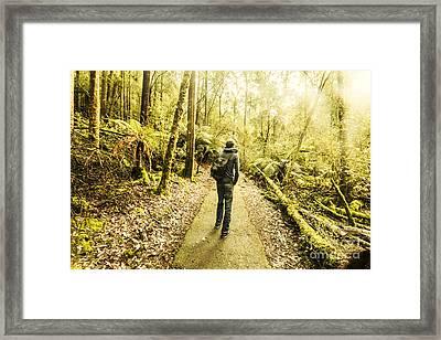 Framed Print featuring the photograph Bushwalking Tasmania by Jorgo Photography - Wall Art Gallery