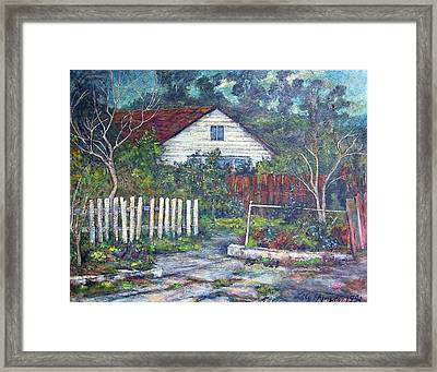 Bushy Old House Framed Print by Lily Hymen