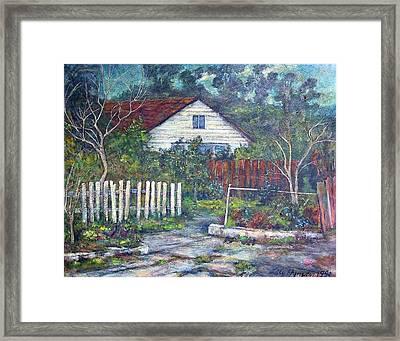 Bushy Old House Framed Print by Lily Hymen