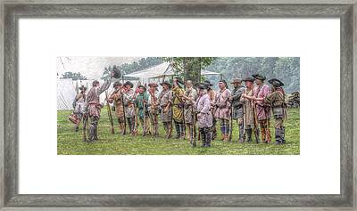 Bushy Run Milita Camp Roll Call Framed Print by Randy Steele