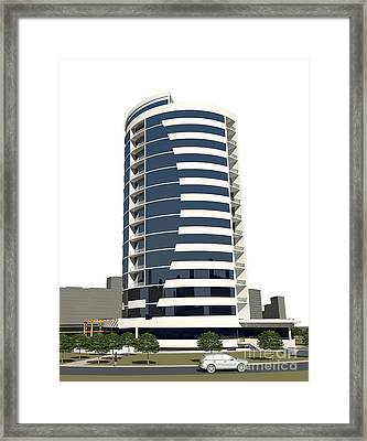Business Centre View  Framed Print